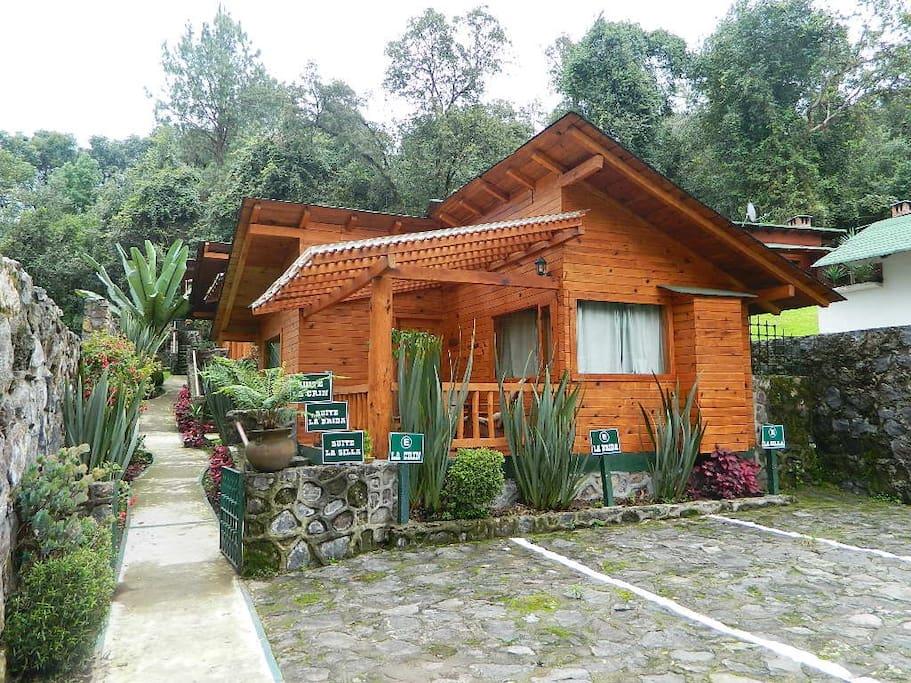 Fachada Cabaña Suite