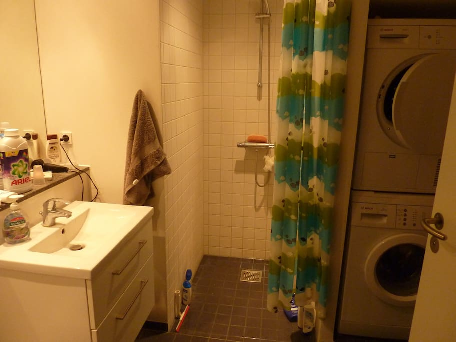 Fully equiped bathroom washer and dryer at your disposal :)