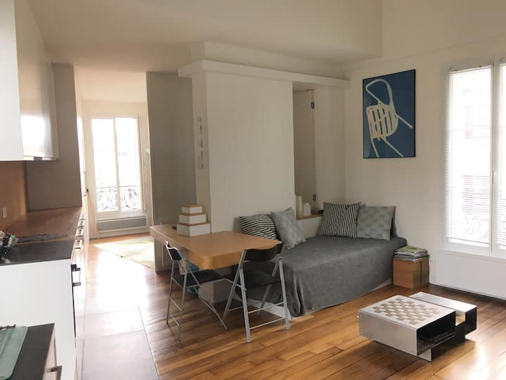 Quiet & Sunny design apartment -15eme