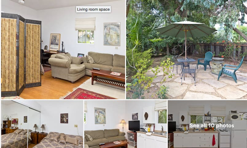 Private, airy space. with private yard