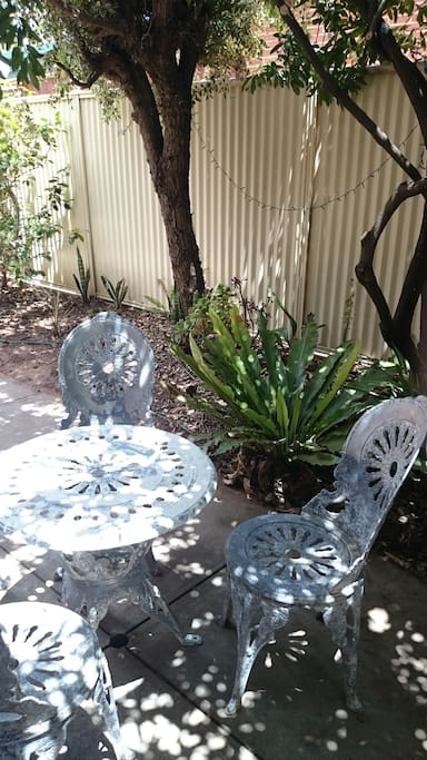Relax in a private, shaded spot - while enjoying some organic grapes (season dependent).