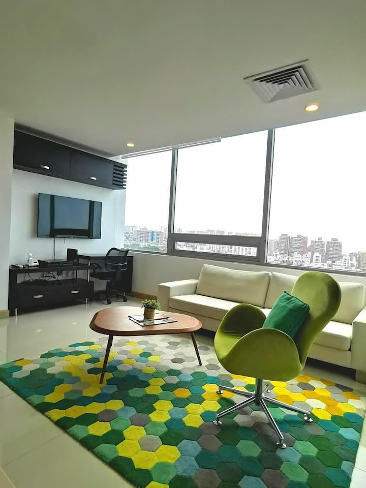 Apartamento Bluegardens Hilton Barranquilla