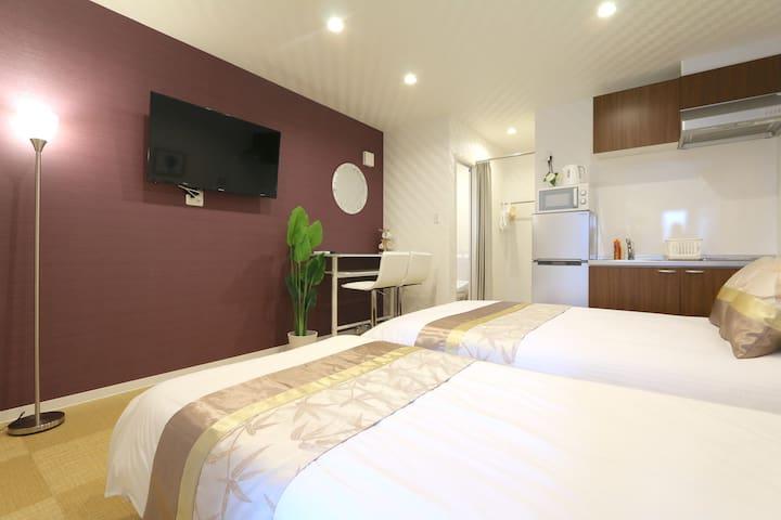 NK3 新建公寓套房,现代风格,时尚设计,宁静舒适,优越位置,直达梅田,天神桥筋商店街