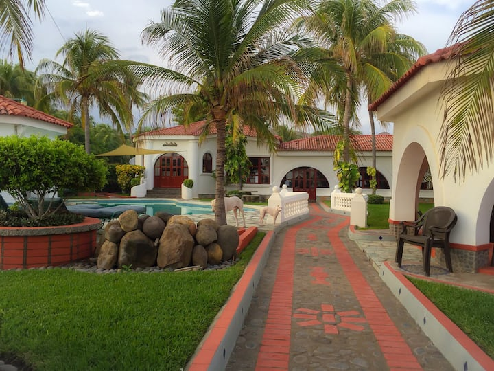 Mansion San Blas, Private Beach House, Oceanfront
