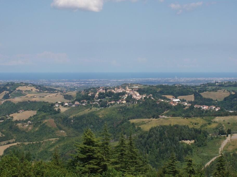 Panorama con vista mare