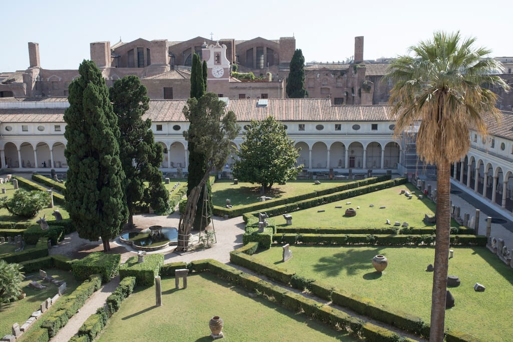 View of the Michelangelo's Cloister