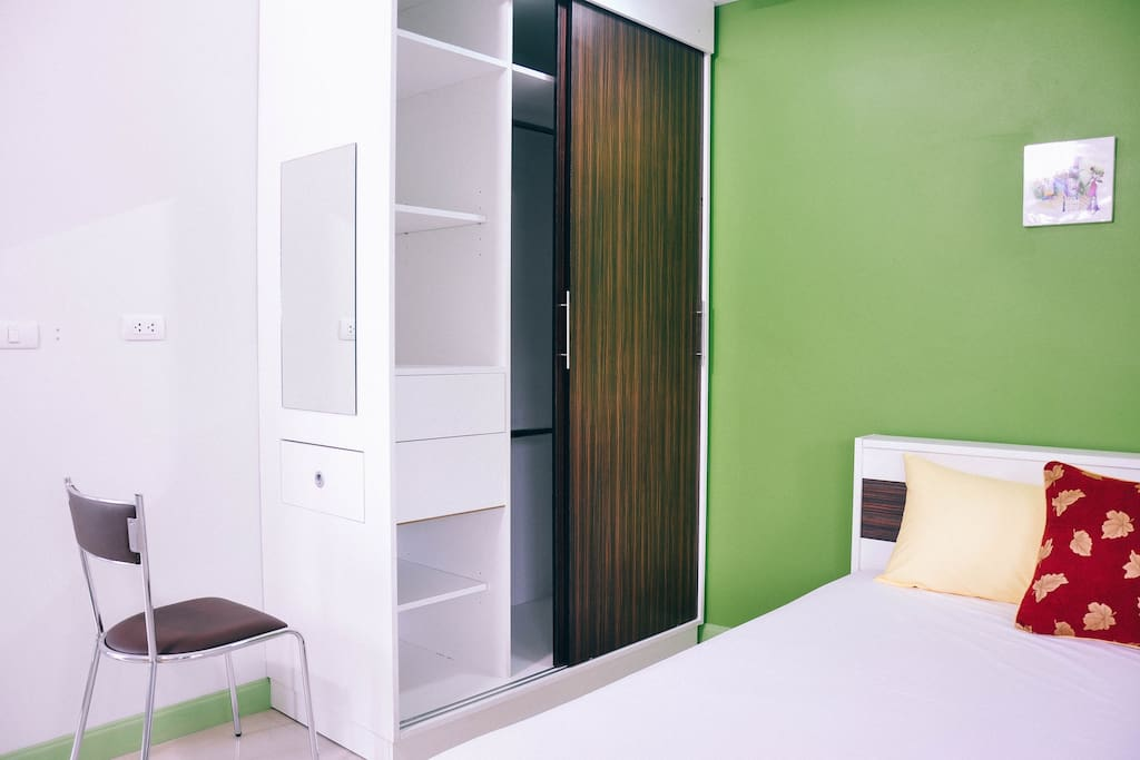 cupboard and mirror