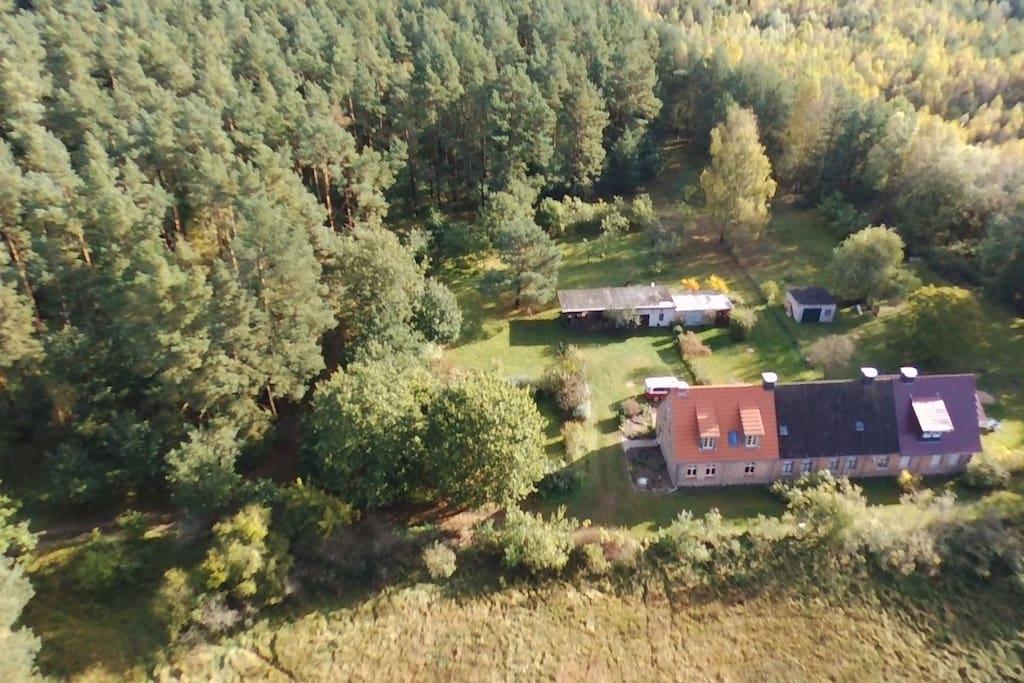 2.000 m² naturnahe Hoffläche grenzt direkt an den Nationalparkwald