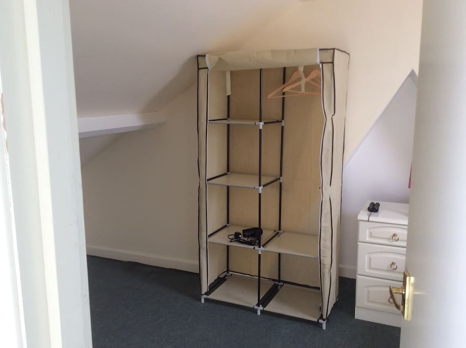 Convenient space for storing clothes