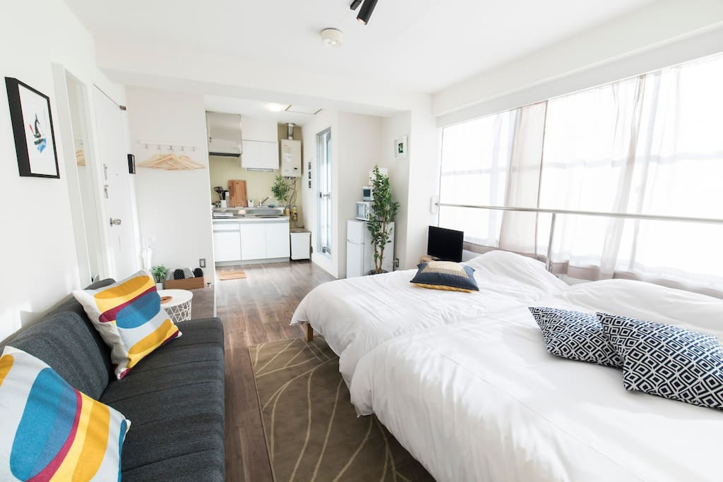 Very Sunny Living Quarters with everything you need for your stay : )
