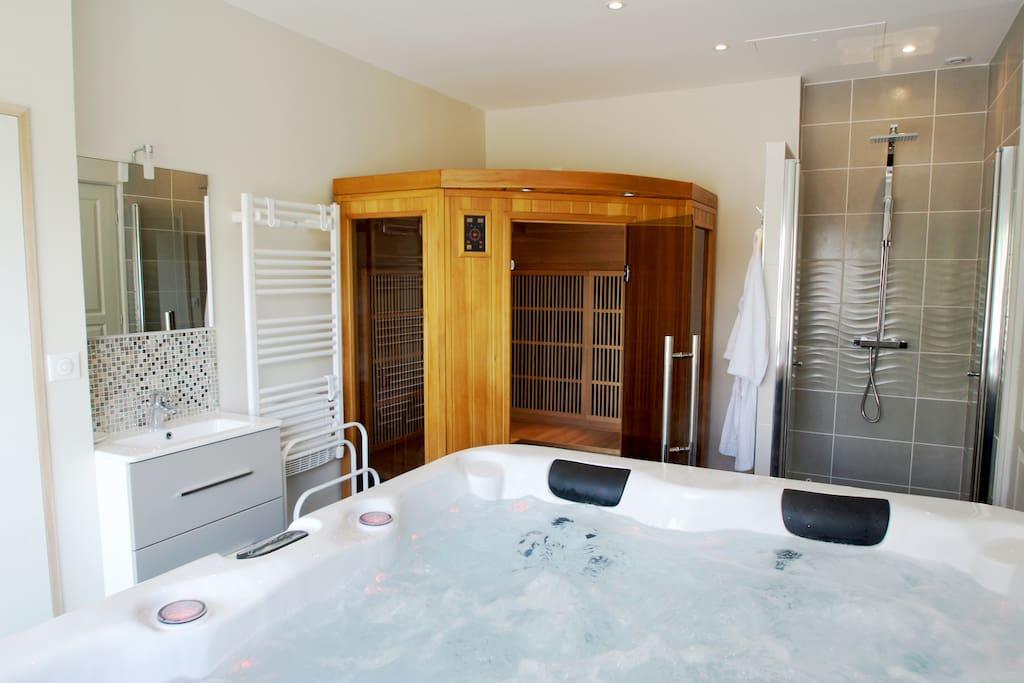 spa et sauna pour d'agréables moments de bien-être