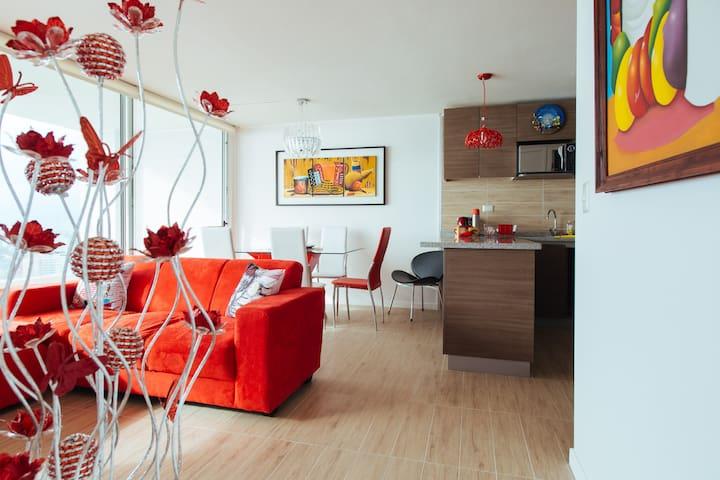 """""""The VIP Red Hut"""" in La Serena, beach and Casino"""