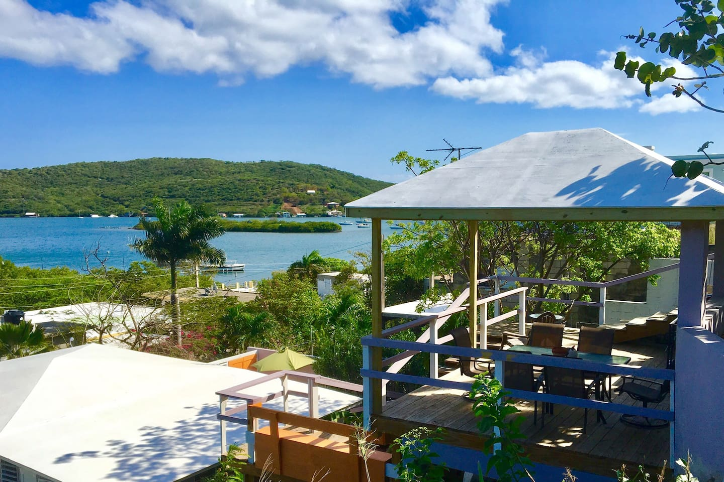 Our deck Gazebo offers an amazing view