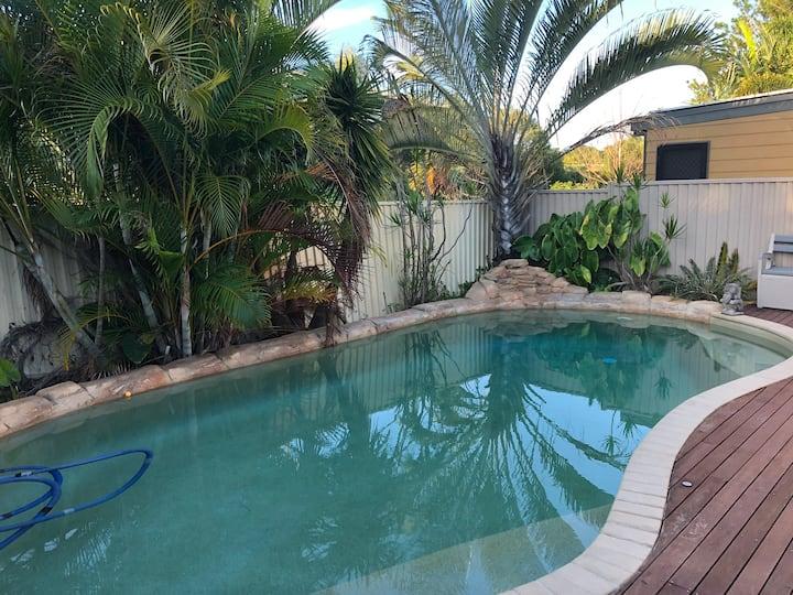 Pool House quiet retreat.