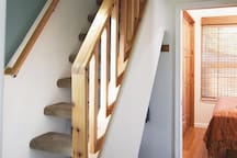 The loft steps are be a bit steep and narrow, less adventurous guests can choose the downstairs bedroom.