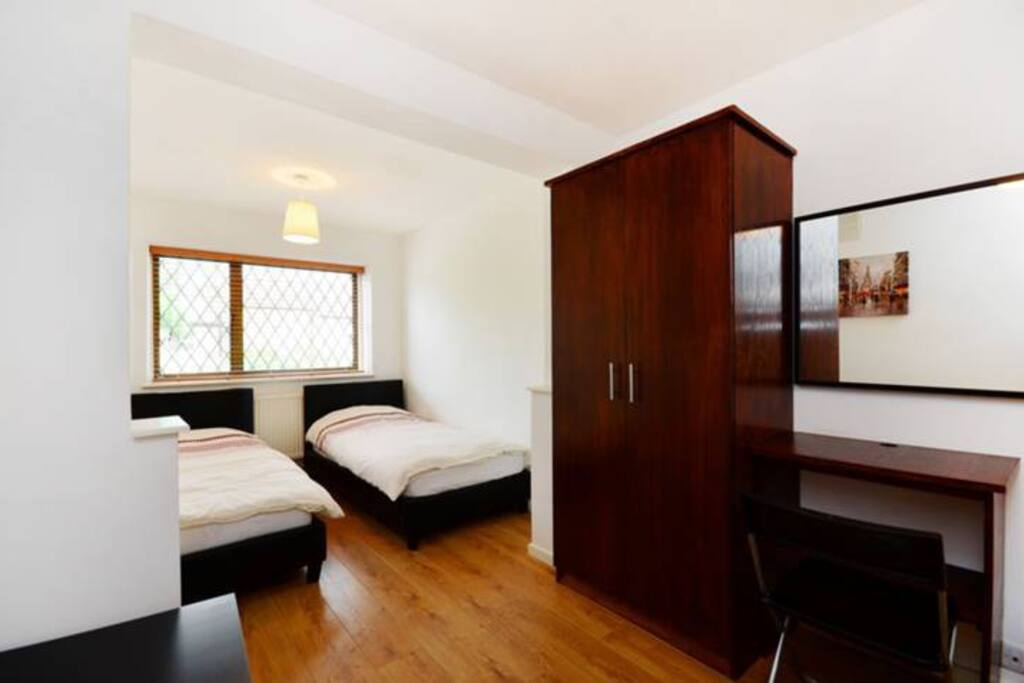 Big  Twin Bedroom with premium quality mattress