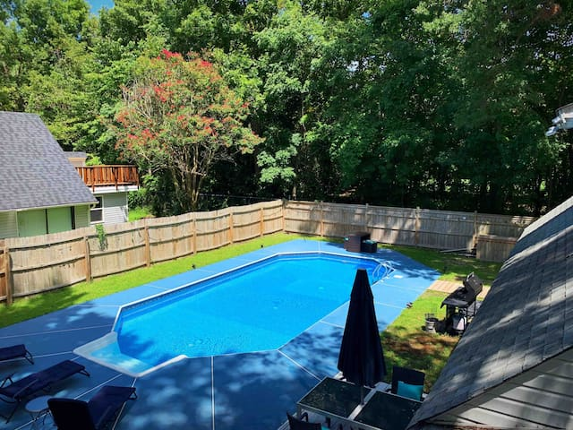 ⭐️Gorgeous Cape Cod style Oasis w/pool &fire pit⭐️