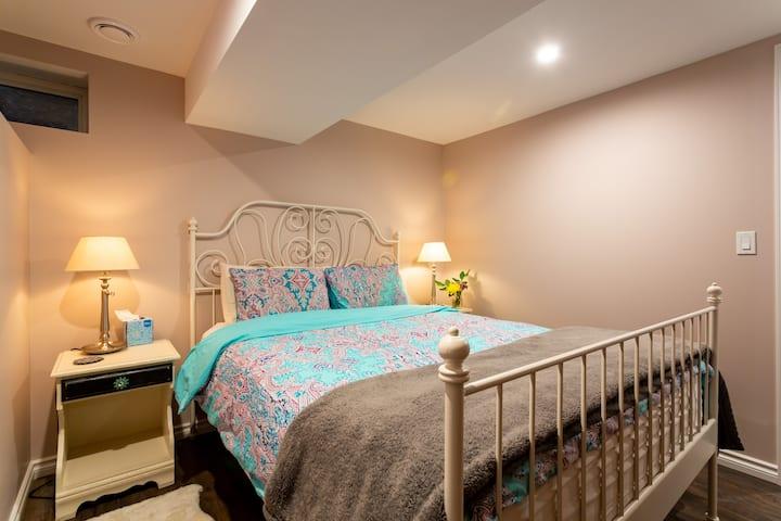 Cosy Bridgeland Basement Suite with FREE Parking