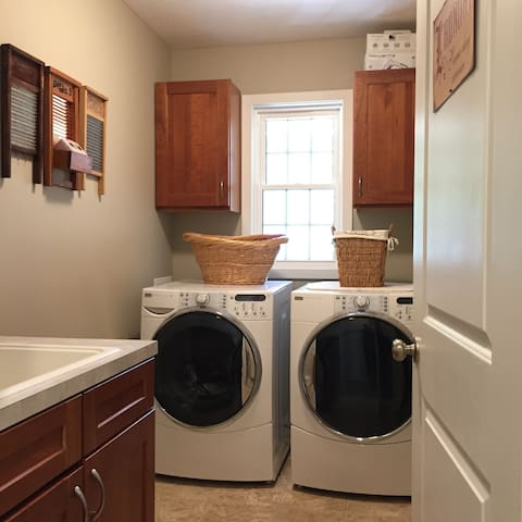 Shared laundry room available for your use.