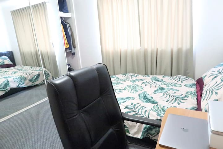 furnished private room with own bathroom