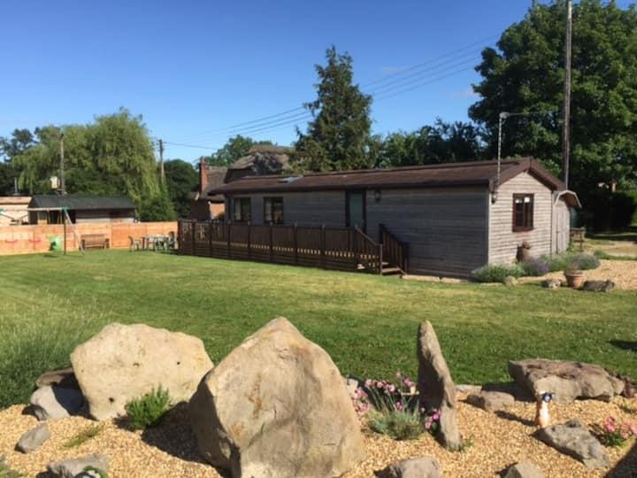 Honeystreet farm log cabin