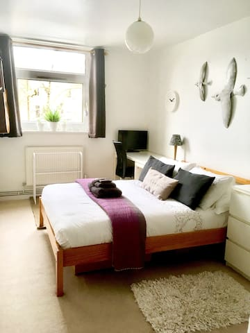 Large Private D.Room-10min walk to Barnes Stn SW15