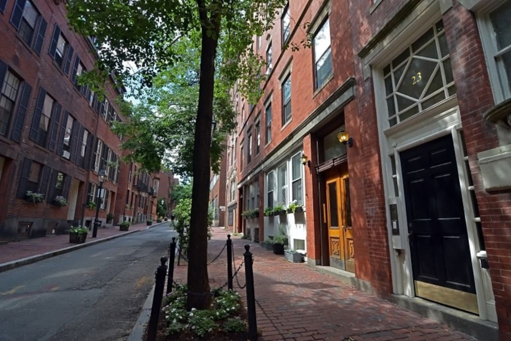 One of Boston's beautiful streets