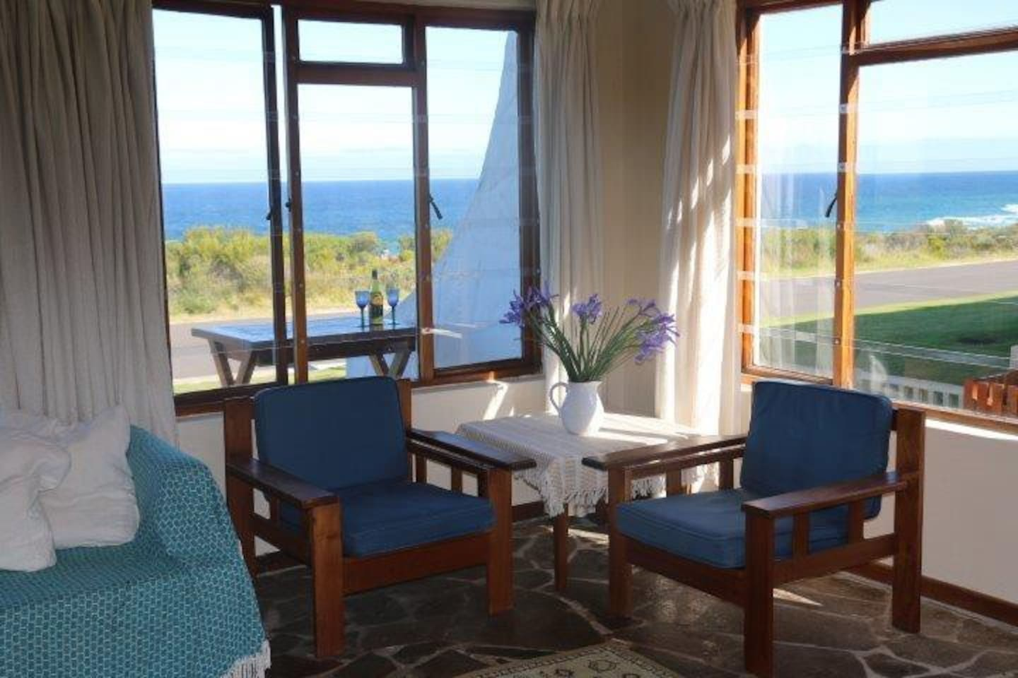 View from living room and dining area.