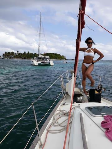 Croisière voile départ de Marie Galante Guadeloupe