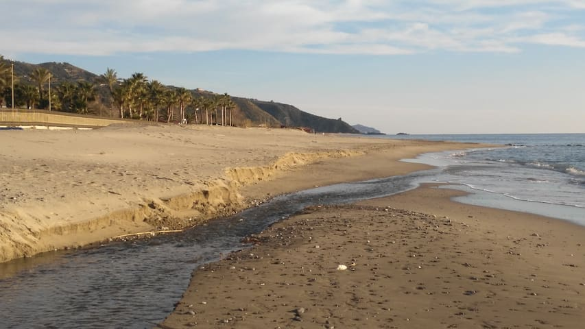 La spiaggia in località fiumarella