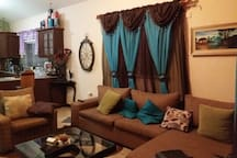 A comfortable and homely living room ready for the comfort of your family.