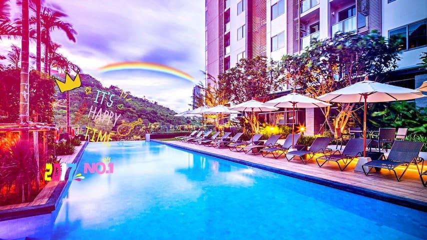 Sunset&Pool&Mountain&Seaview 35㎡ With Balcony WiFi
