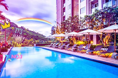 Sunset&Pool&Mountain&Seaview 35㎡ With Balcony WiFi - Muang Pattaya - Kondominium