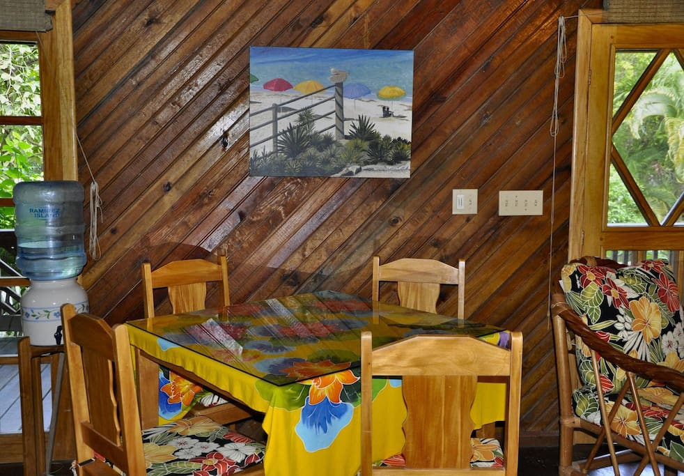 Colorful tropical colors and local art