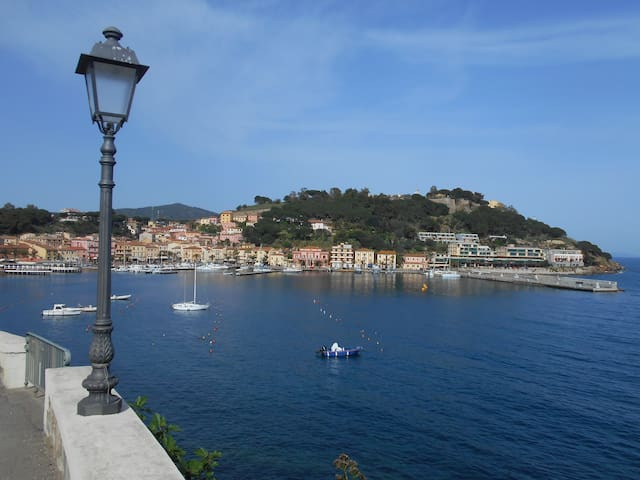 The local town and harbour of Porto Azzurro