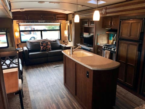 Sanitized Modern Luxury RV on Vineyard