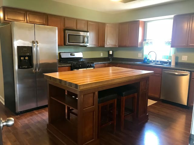 Centrally located private home with garage parking