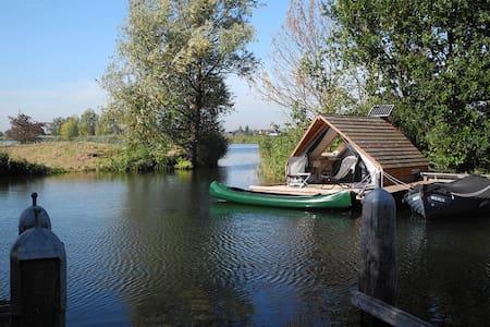 Slapen op het water, beleef, geniet van de natuur!
