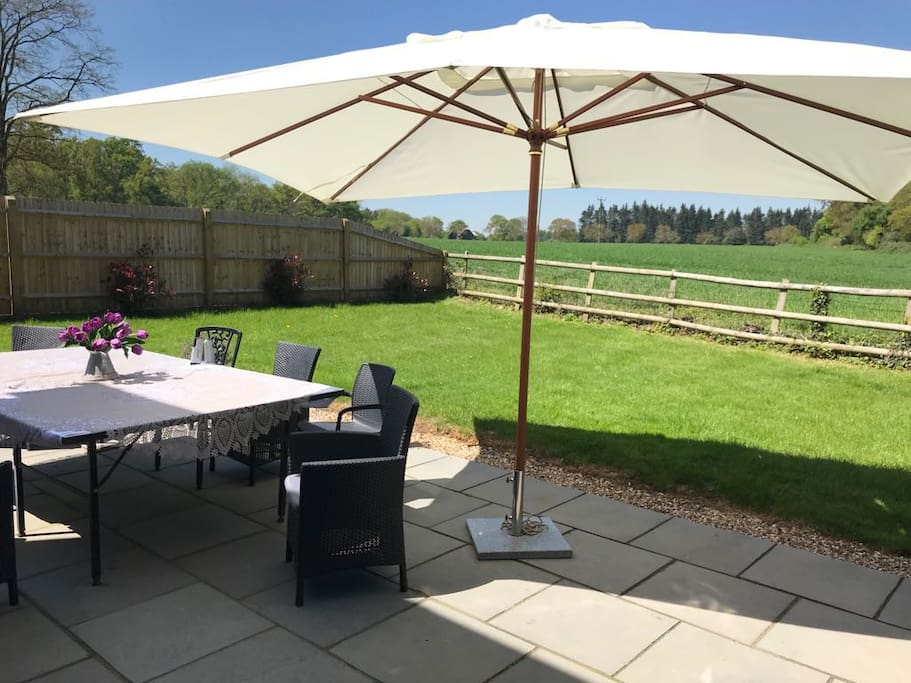 Relax on the patio outside in summer, enjoy the amazing views