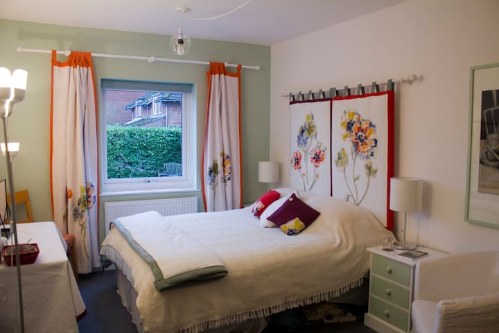 Beautiful ensuite with king-sized bed and parking - Cringleford - House