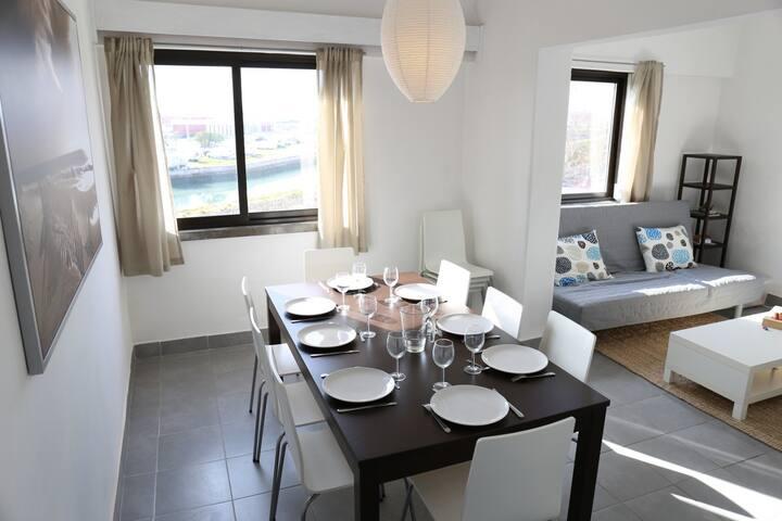 Appartement spacieux et lumineux, avec vue sur mer
