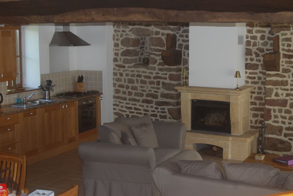 Le Trou Normand (our 2 bedroom cottage) Lounge