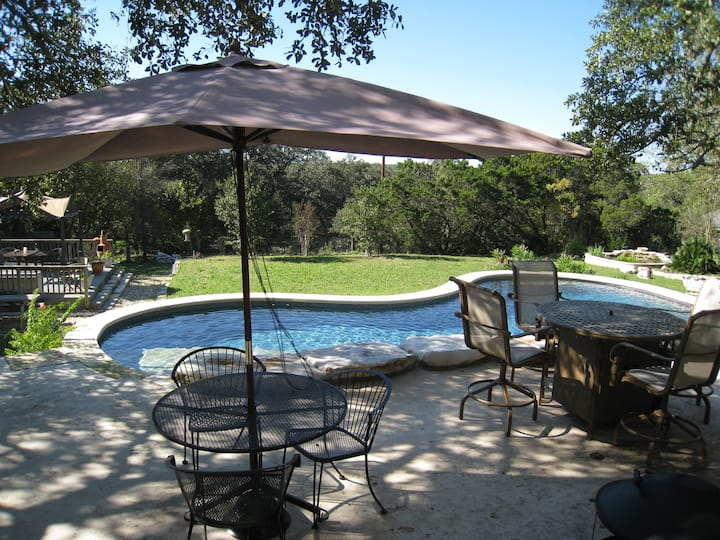 South Austin Hill Country View Pool  House