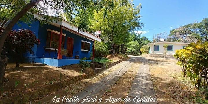 Lourdes's little blue House