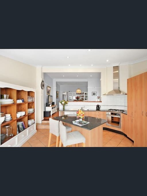 Modern kitchen with ducted ranghood