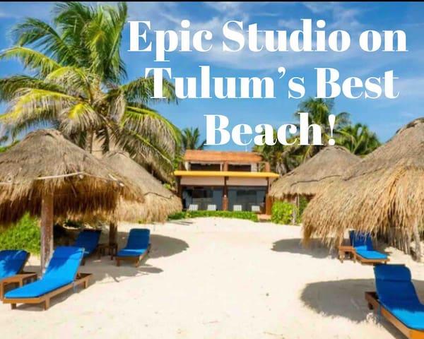 Garden Studio Sleeps 2-4  ☀Best Tulum Beach☀