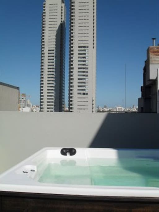 top floor terrace with jacuzzi