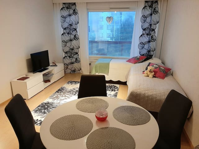 Rovaniemi City apartment with big balcony, Wifi