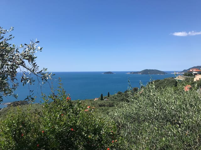 Loft with nice view in Lerici