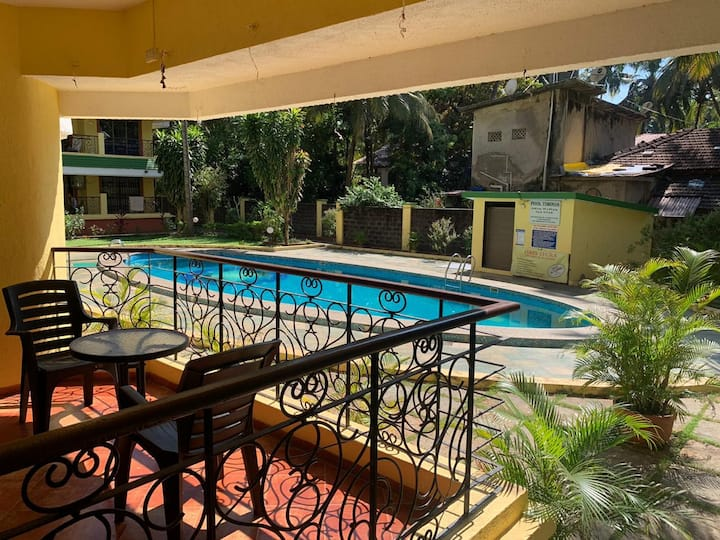 2BHK Apartment near Bagha/Calangute w Pool(B1)